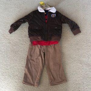 Little me 3 piece matching aviator set, NWT
